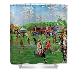 The Long Island Fair At Old Bethpage Restoration Shower Curtain