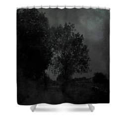 The Long Road Into The Night Shower Curtain