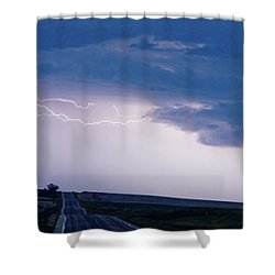 The Long Road Into The Storm Shower Curtain by James BO  Insogna