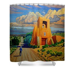 The Long Road To Santa Fe Shower Curtain by Art West