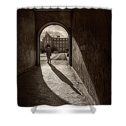 The Long Shadow Shower Curtain
