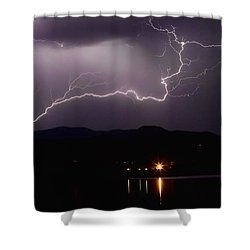 The Long Strike Shower Curtain by James BO  Insogna
