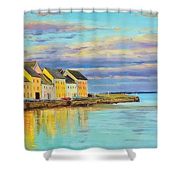 The Long Walk Galway Shower Curtain by Conor McGuire