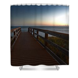The Long Walk Home Shower Curtain by Renee Hardison
