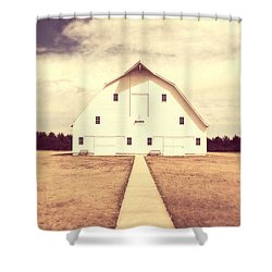 Shower Curtain featuring the photograph The Long Walk by Julie Hamilton
