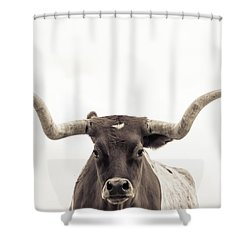 The Longhorn Shower Curtain