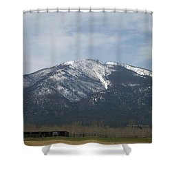 The Longshed Shower Curtain by Jewel Hengen