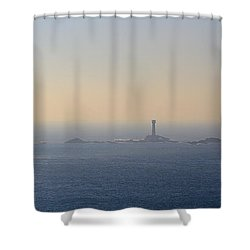 The Longships Lighthouse Cornwall Shower Curtain