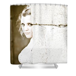 The Look Behind The Pillar Shower Curtain by Loriental Photography