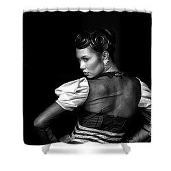 The Look Shower Curtain by Charuhas Images
