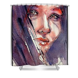 The Look Shower Curtain by Judith Levins