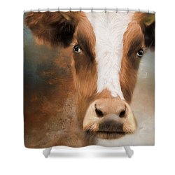 Shower Curtain featuring the photograph The Look by Robin-Lee Vieira