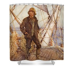 The Lookout Man  Shower Curtain by Henry Scott Tuke