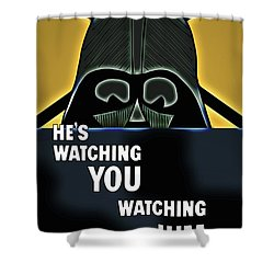 Shower Curtain featuring the digital art The Lost Jedi by John Haldane