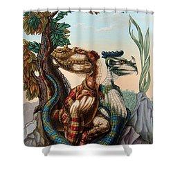 The Lost World  By Sir Arthur Conan Doyle Shower Curtain