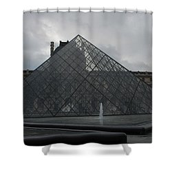 Shower Curtain featuring the photograph The Louvre And I.m. Pei by Christopher Kirby