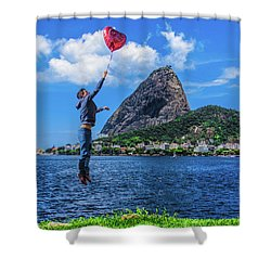 The Love In The Air Shower Curtain
