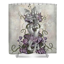 The Love Of The Two Souls Shower Curtain by Ali Oppy