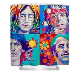 Come Together Shower Curtain by Rebecca Glaze