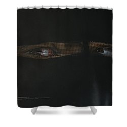 The Lovely Bride Hyphemas Portrait Shower Curtain