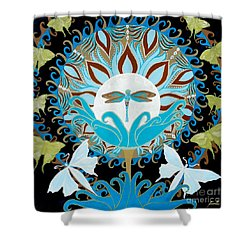 The Luna Moth Journey Of Faith And Love Shower Curtain