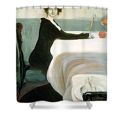 The Luncheon Shower Curtain by Leon Bakst