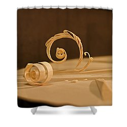The Luthiers Art Shower Curtain by Grant Groberg