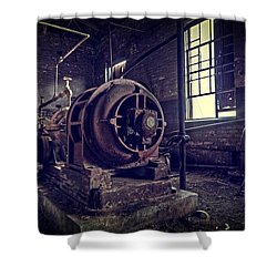 The Machine Shower Curtain by Everet Regal