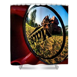 The Mack Truck Shower Curtain by Linda Unger