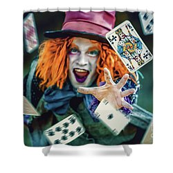 Shower Curtain featuring the photograph The Mad Hatter Alice In Wonderland by Dimitar Hristov