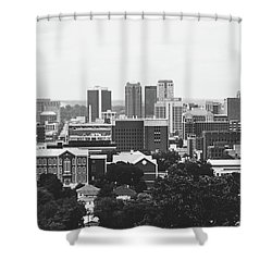 Shower Curtain featuring the photograph The Magic City In Monochrome by Shelby Young