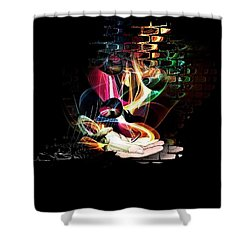 Shower Curtain featuring the digital art The Magic Hand Of The Artist By Nico Bielow by Nico Bielow
