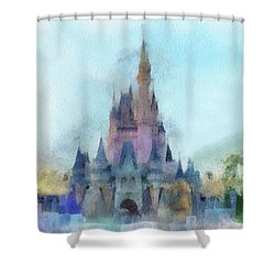 The Magic Kingdom Castle Wdw 05 Photo Art Mp Shower Curtain