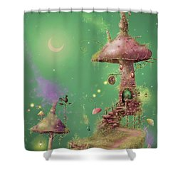 The Mushroom Gatherer Shower Curtain