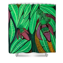 The Magic Of Banana Blossoms Shower Curtain by Lorna Maza