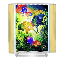 The Magic Of Butterflies Shower Curtain by Hartmut Jager