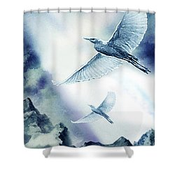 The Magic Of Flight Shower Curtain by Hartmut Jager