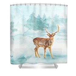 Shower Curtain featuring the painting The Magic Of Winter  by Colleen Taylor