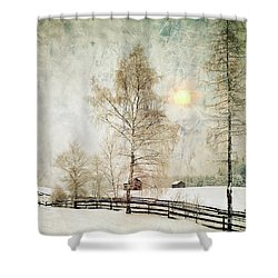 The Magic Of Winter Shower Curtain