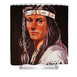 The Maiden IIi Shower Curtain