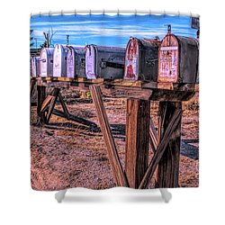 The Mailboxes Shower Curtain