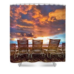 The Main Event Shower Curtain by Debra and Dave Vanderlaan