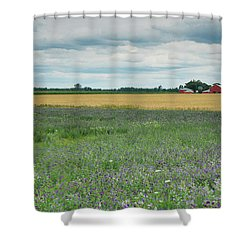 Farming Landscape Shower Curtain