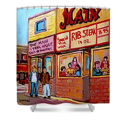 The Main Steakhouse On St. Lawrence Shower Curtain by Carole Spandau