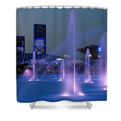 The Main Street Bridge Shower Curtain by Lori Deiter