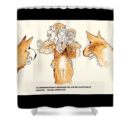 The Mall Opportune Shower Curtain
