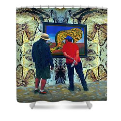 The Man Cave Enigma Shower Curtain by Gerhardt Isringhaus