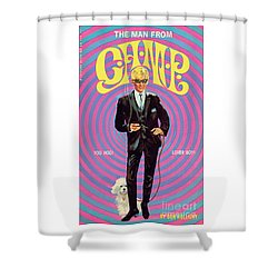 Shower Curtain featuring the painting The Man From Camp by Robert Bonfile