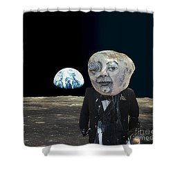 The Man In The Moon Shower Curtain