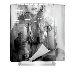 Shower Curtain featuring the photograph The Man Inside Me by John Williams